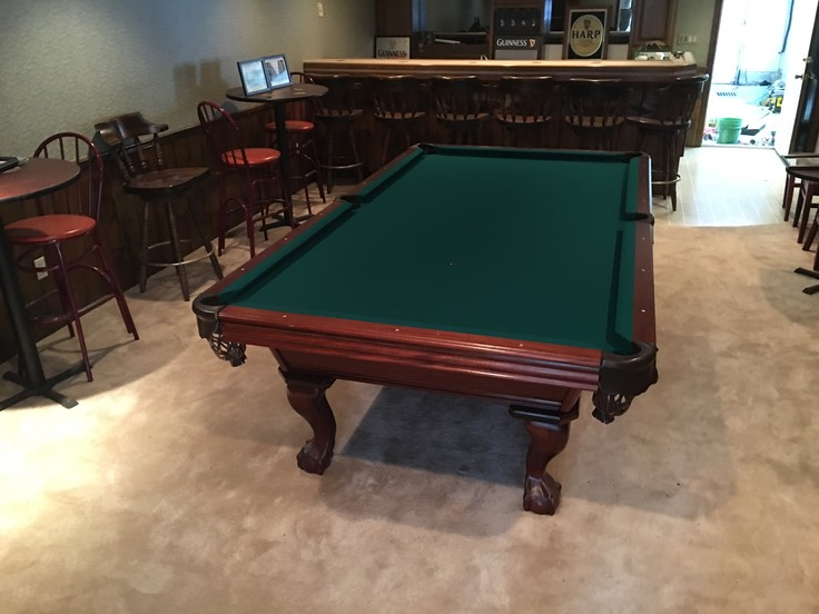 Pool Table Stripes And Solids - Guinness pool table